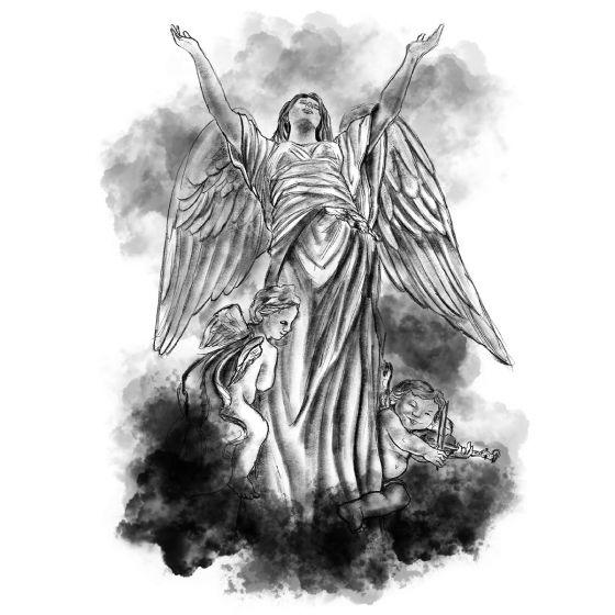 Tatouage éphémère Anges