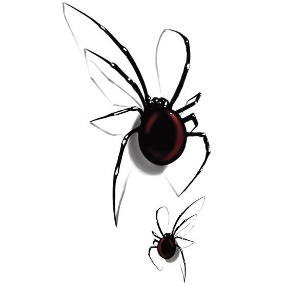 Tatouage éphémère araignée rouge 3D