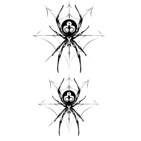 Tatouage éphémère araignée