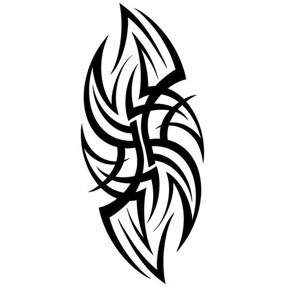 Tatouage éphémère bras tribal maori