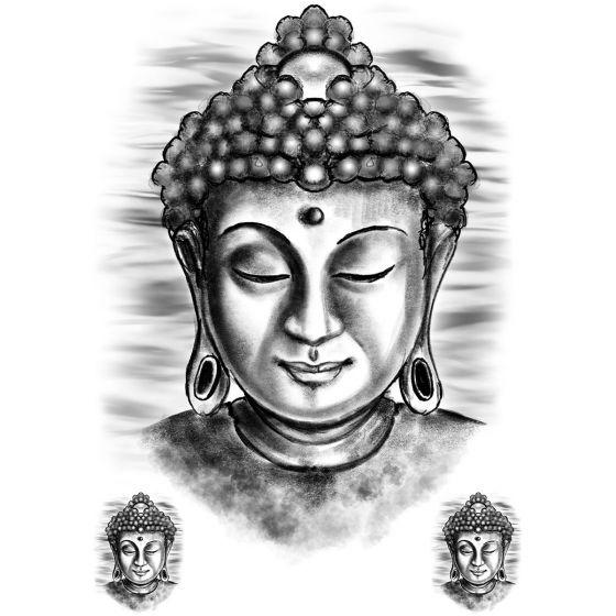 Tatouage éphémère Buddha