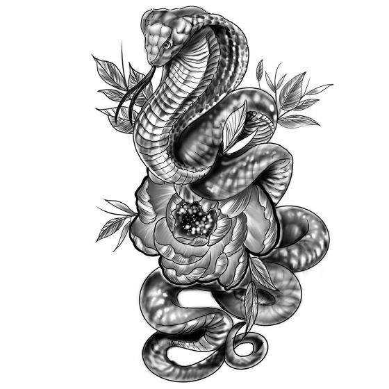 Tatouage éphémère Cobra serpent
