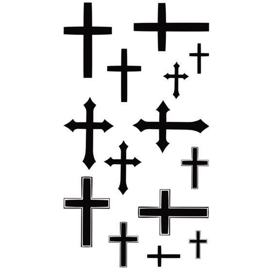 Tatouage éphémère croix chrétiennes