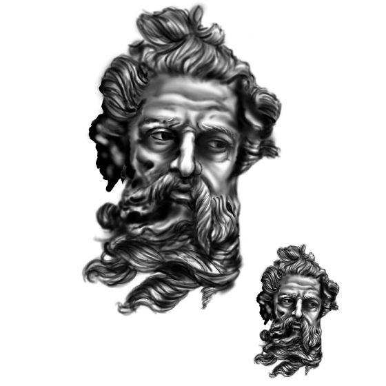 Tatouage éphémère dieu romain