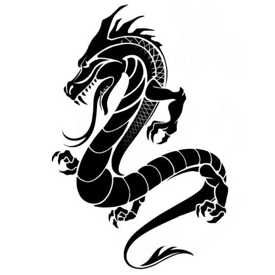 Tatouage éphémère dragon