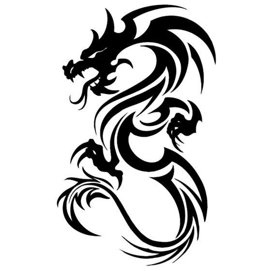 Tatouage éphémère dragon tribal