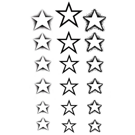Tatouage éphémère étoiles Pack
