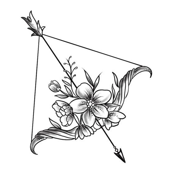 Tatouage éphémère Arc et flèche fleuri