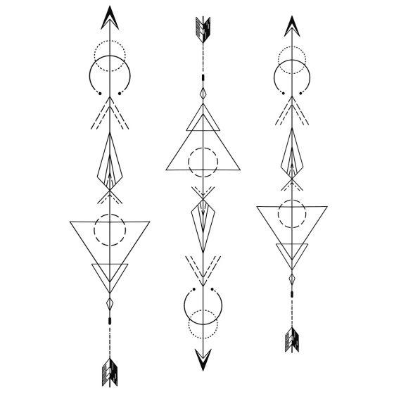 Tatouage éphémère Flèches géométriques