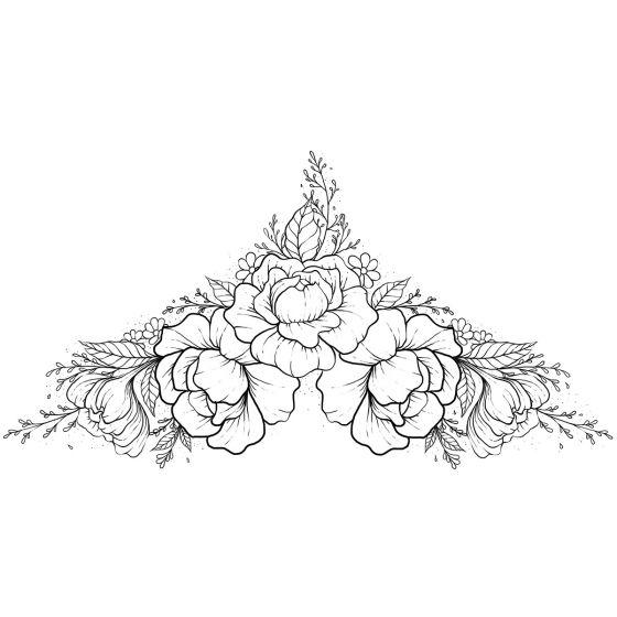 Tatouage éphémère fleur pivoine #1