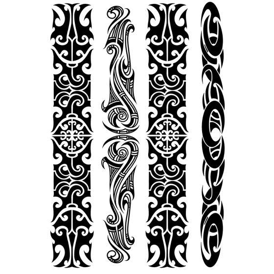 Tatouage éphémère grand bracelet tribal