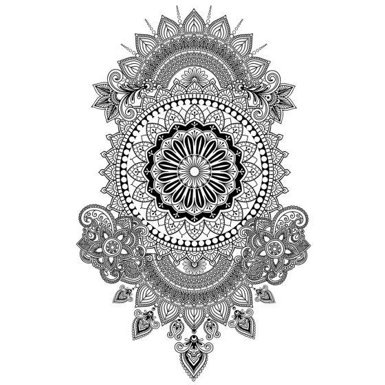 Tatouage éphémère grand mandala