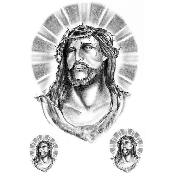 Tatouage éphémère Jesus