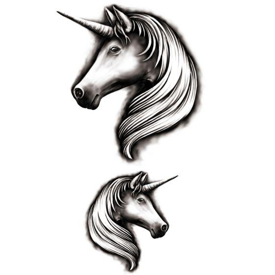 Tatouage éphémère licorne