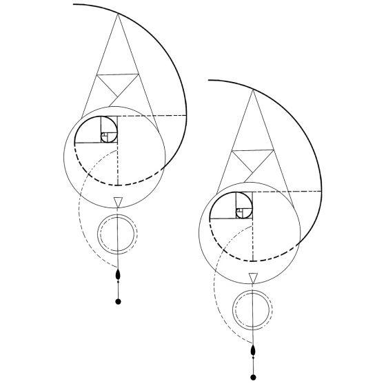 Tatouage éphémère Lignes et courbes #1