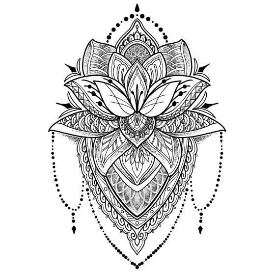 Tatouage éphémère Lotus #2
