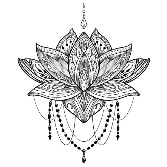 Tatouage éphémère Lotus #1