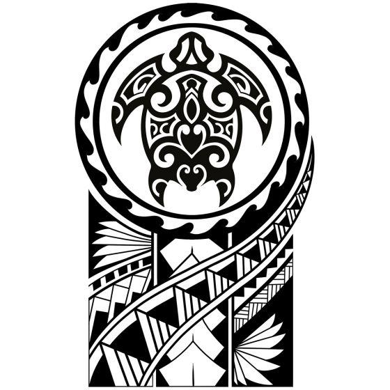 Tatouage éphémère torture maori