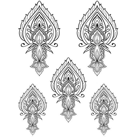Tatouage éphémère motif ornemental #4