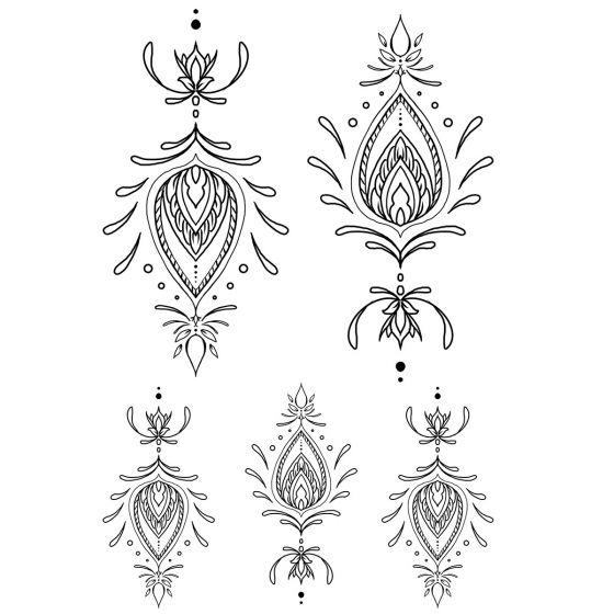 Tatouage éphémère Ornements géométriques #7