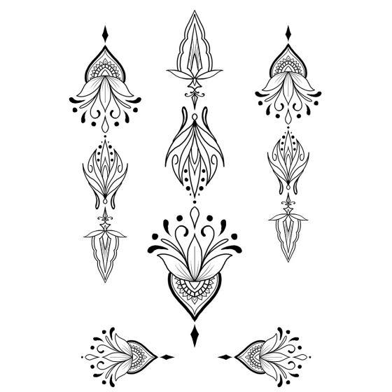 Tatouage éphémère Ornements géométriques #8