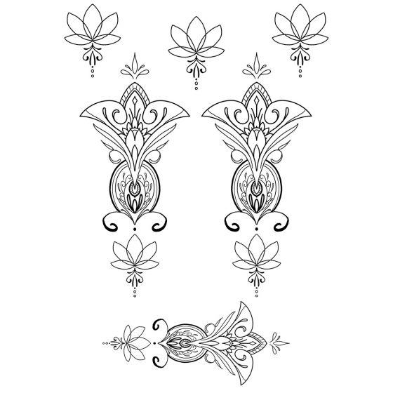 Tatouage éphémère Ornements géométriques #9