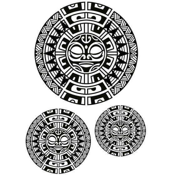 Tatouage éphémère ronds maori #1
