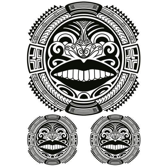 Tatouage éphémère ronds maori #2