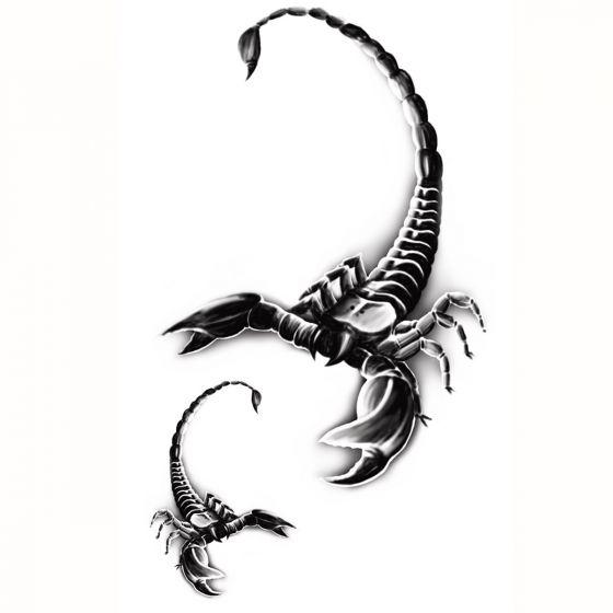 Tatouage éphémère scorpion