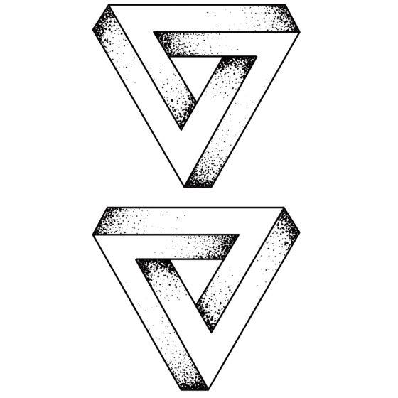 Tatouage éphémère triangle 3D