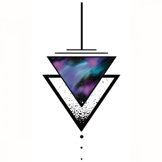 tatouage éphémère triangle espace