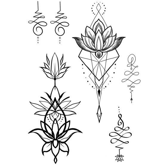 tatouage éphémère unalome