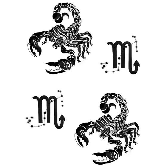 Tatouage éphémère zodiaque scorpion